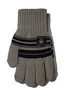 Трикотажные перчатки Корона детск. вязаные S5670-4 серый, фото 1