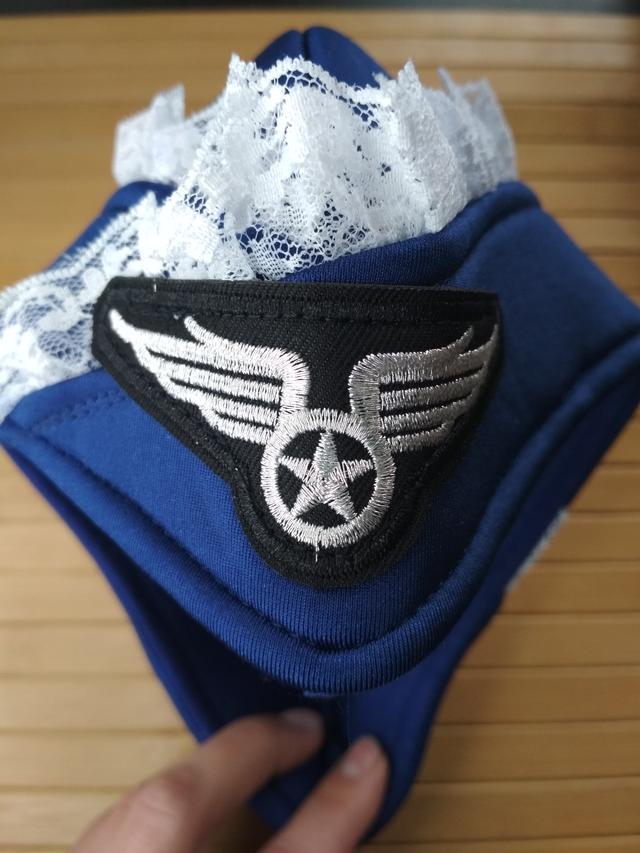 костюм сексуальной бортпроводницы, пилотка, пилот, бортпроводница, игривые рюши