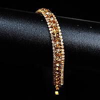 """Браслет """"Chopard"""" позолоченный с кристаллами swarovski"""