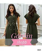 Женское платье-пальто без рукавов