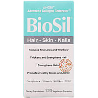Биосил, Активатор Коллагена, BioSil Collagen Generator, Natural Factors, 120 вегетарианских капсул