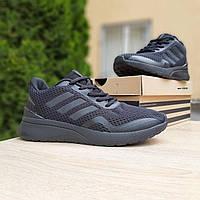 Мужские кроссовки в стиле Adidas  Nova Run черные, фото 1