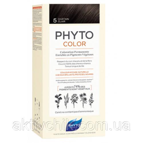 Крем-краска для волос Phyto Phytocolor Тон 5 (светлый шатен)