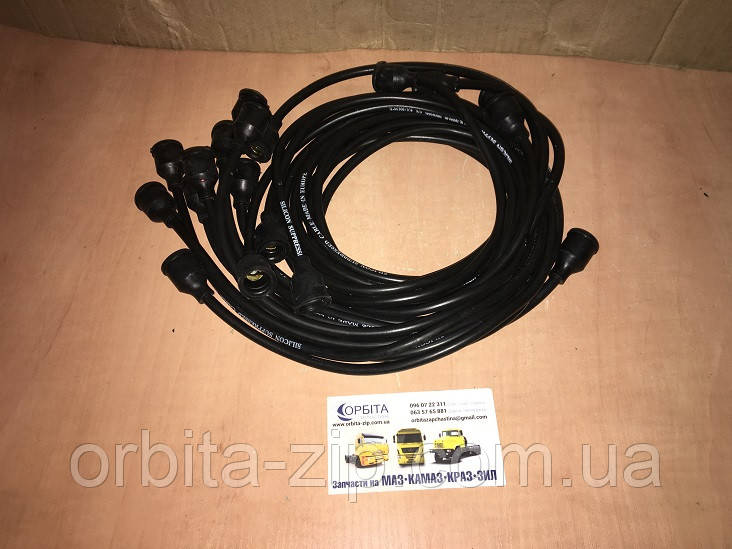 130-3706371 Провода зажигания ЗИЛ 130 силикон черный 9 шт. (пр-во Украина)