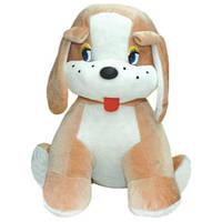 Мягкая игрушка Золушка Собака сидячая Друг маленькая 38 см Коричневый