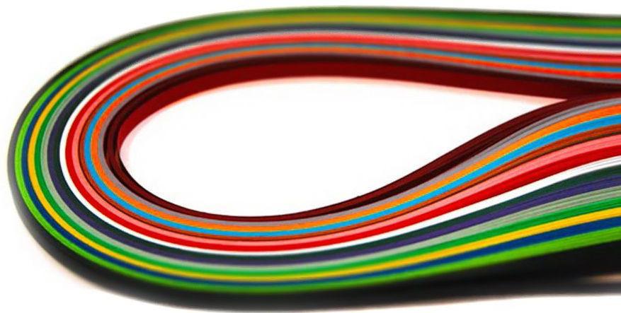 Бумага для квиллинга ЛЮКС КОЛОР (7mm/700mm) для создания панно из бумажных лент