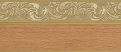 Лента декоративная, Бленда Ажур 4 Бук на потолочный карниз КСМ 70 мм, усиленный потолочный карниз