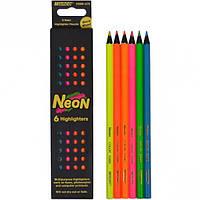 Карандаши цветные Marco Neon 6 цветов 5500B-6CB