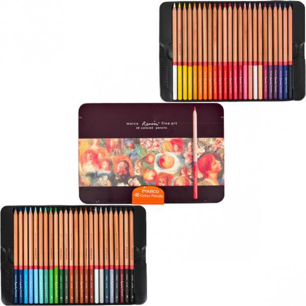 Карандаши цветные Marco Renoir 48 цветов FineART-48TN