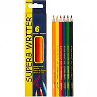 Карандаши цветные Marco Superb Writer 6 цветов 4100-6CB