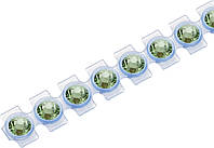 Кристаллы Сваровски Swarovski Elements Knorr Prandell для текстиля на ленте SS10  2.8 мм Малахит