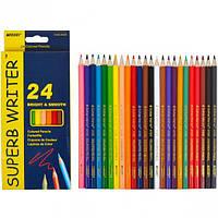 Карандаши цветные Marco Superb Writer 24 цвета 4100-24CB