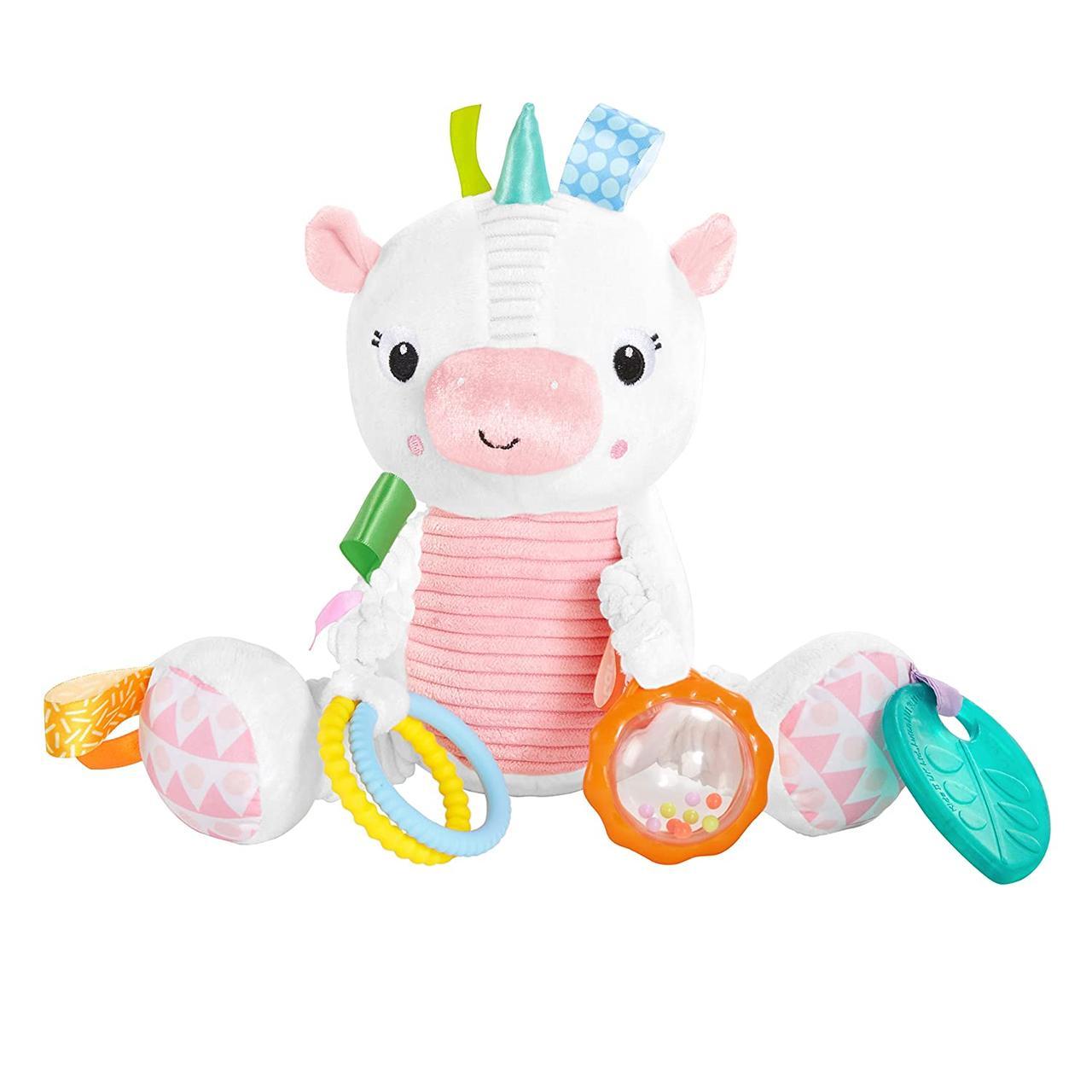 Развивающая плюшевая игрушка Милый Единорошка  США Bright Starts Bunch-O-Fun Plush Activity