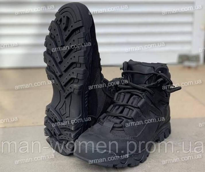 Ботинки тактические Драгон-чёрные. Нубук+кордура. Новые. Разм: 40-45