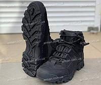 Ботинки тактические Драгон-чёрные. Нубук+кордура. Новые. Разм: 40-45, фото 1