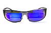Спортивные зеркальные синие очки Global Vision BAD-ASS 1 в металлической оправе