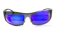 Спортивные зеркальные синие очки Global Vision BAD-ASS 1 в металлической оправе, фото 1