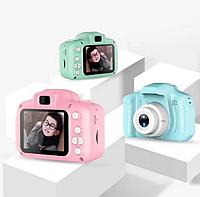 Детский фотоаппарат GM14 Лучшая цена! Цвета розовый, голубой, бирюзовый