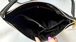 Женская синяя сумка, клатч с ремешком на плечо 26*25 см, фото 3