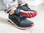 Мужские кроссовки Asics Gel-Kayano 25 (темно-серые с белым и красным) 9262, фото 2