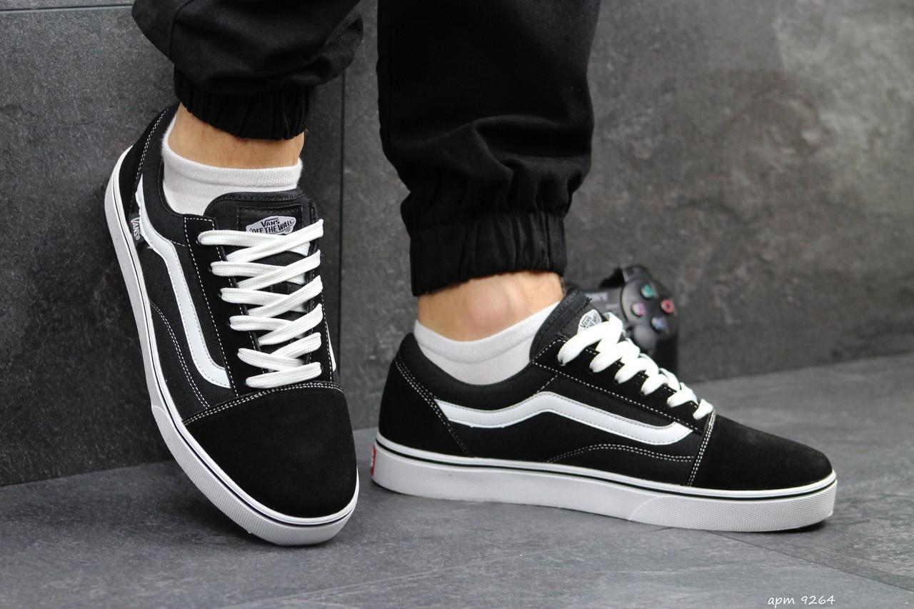Мужские кроссовки Vans (черно-белые) 9264