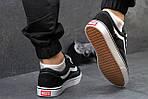 Мужские кроссовки Vans (черно-белые) 9264, фото 3
