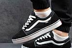 Мужские кроссовки Vans (черно-белые) 9264, фото 7