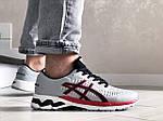 Мужские кроссовки Asics Gel-Kayano 25 (светло-серые с красным) 9259, фото 3