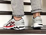 Мужские кроссовки Asics Gel-Kayano 25 (светло-серые с красным) 9259, фото 4