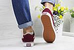 Жіночі кросівки Vans (бордові) 9267, фото 3