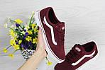 Жіночі кросівки Vans (бордові) 9267, фото 4