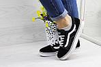 Жіночі кросівки Vans (чорно-білі) 9269, фото 4