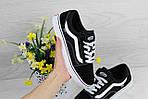 Женские кроссовки Vans (черно-белые) 9269, фото 6