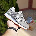 Женские замшевые кроссовки New Balance 574 (серые) 20028, фото 2