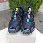Мужские кроссовки Salomon Speedcross 3 (черные) 10098, фото 9