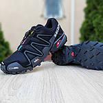 Мужские кроссовки Salomon Speedcross 3 (черные) 10099, фото 4