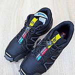 Мужские кроссовки Salomon Speedcross 3 (черные) 10099, фото 7