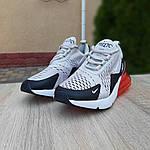 Женские кроссовки Nike Air Max 270 (серо-черные) 20085, фото 3