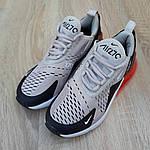 Женские кроссовки Nike Air Max 270 (серо-черные) 20085, фото 6