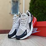 Женские кроссовки Nike Air Max 270 (серо-черные) 20085, фото 7