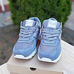 Жіночі замшеві кросівки New Balance 574 (сіро-золоті) 20087, фото 9
