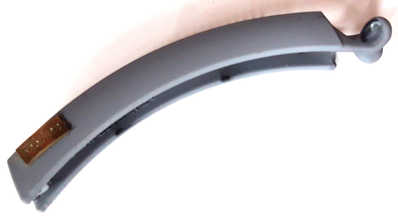 Заколка-банан для волос каучук 12 см серый