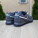Замшевые мужские кроссовки New Balance 574 (темно-серые) 10106, фото 2