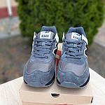 Замшевые мужские кроссовки New Balance 574 (темно-серые) 10106, фото 4