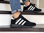 Мужские кроссовки Adidas Iniki (черно-белые) 9276, фото 3