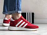 Мужские кроссовки Adidas Iniki (красно-белые) 9282, фото 2