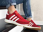 Мужские кроссовки Adidas Iniki (красно-белые) 9282, фото 3