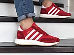 Мужские кроссовки Adidas Iniki (красно-белые) 9282, фото 4