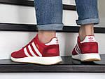 Мужские кроссовки Adidas Iniki (красно-белые) 9282, фото 5