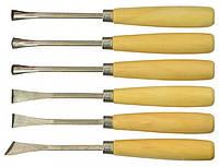 Стамески фигурные Technics для резьбы по дереву набор 6  шт Арт.43-340